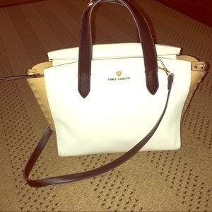 Vince Camuto White Shoulder Tote